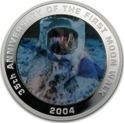 Australia 1 Dollar 35th Anniversary of the First Moon Walk 2004 KM# 736 35TH ANNIVERSARY OF THE FIRST MOON WALK 2004 coin reverse
