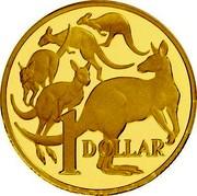 Australia 1 Dollar 5 Kangaroos 2006 Proof KM# 489b 1 DOLLAR coin reverse