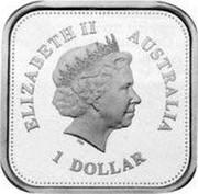 Australia 1 Dollar 50th Anniversary of Australian Television 2006 KM# 841 ELIZABETH II AUSTRALIA 1 DOLLAR IRB coin obverse