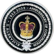 Australia 1 Dollar 50th Anniversary of Coronation 2003 KM# 823 ELIZABETH II ~ 1953-2003 ~ ANNIVERSARY OF CORONATION coin reverse