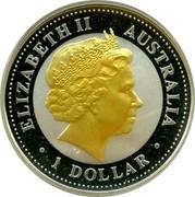 Australia 1 Dollar 50th Anniversary of Royal Visit 2004 KM# 738 ELIZABETH II AUSTRALIA 1 DOLLAR IRB coin obverse