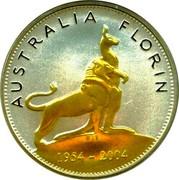 Australia 1 Dollar 50th Anniversary of Royal Visit 2004 KM# 738 AUSTRALIA FLORIN WLB 1954 - 2004 coin reverse