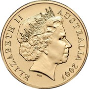 Australia 1 Dollar 60th Anniversary of Australian Peacekeeping 2007 KM# 1042 ELIZABETH II AUSTRALIA 2007 IRB coin obverse