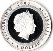 Australia 1 Dollar 60th Anniversary of the End of WWII 2005 KM# A797 ELIZABETH II 2005 AUSTRALIA 1 DOLLAR IRB coin obverse