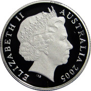 Australia 1 Dollar 60th Anniversary of the End of WWII 2005 KM# 747a ELIZABETH II 2005 AUSTRALIA 1 DOLLAR IRB coin obverse