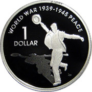 Australia 1 Dollar 60th Anniversary of the End of WWII 2005 KM# 747a 60TH ANNIVERSARY OF THE END OF WWII 1945 ~ 2005 coin reverse