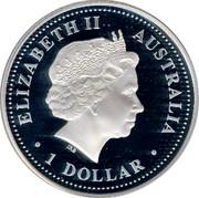 Australia 1 Dollar 75th Anniversary Sydney Harbour Bridge 2007 P Proof KM# 1012 ELIZABETH II - AUSTRALIA 1 DOLLAR coin obverse