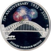 Australia 1 Dollar 75th Anniversary Sydney Harbour Bridge 2007 P Proof KM# 1012 75TH ANNIVERSARY - SYDNEY HARBOUR BRIDGE coin reverse