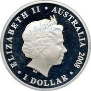 Australia 1 Dollar 90th Anniversary - End of WWI 2008 KM# 1179 ELIZABETH II AUSTRALIA 2008 1 DOLLAR IRB coin obverse