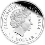 Australia 1 Dollar Australian Antarctic Territory - Mawson Station 2004 KM# 737 ELIZABETH II AUSTRALIA 1 DOLLAR IRB coin obverse