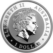 Australia 1 Dollar Australian Koala 2013 P KM# 1979 ELIZABETH II AUSTRALIA 1 DOLLAR IRB coin obverse
