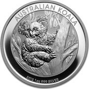 Australia 1 Dollar Australian Koala 2013 P KM# 1979 AUSTRALIAN KOALA P 2013 1 OZ 999 SILVER coin reverse