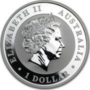 Australia 1 Dollar Australian Koala (Gilded) 2013 KM# 1979a ELIZABETH II AUSTRALIA 1 DOLLAR IRB coin obverse