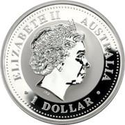 Australia 1 Dollar Australian Kookaburra 2002 KM# 691.2 ELIZABETH II AUSTRALIA 1 DOLLAR IRB coin obverse