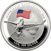 Australia 1 Dollar Australian Kookaburra 2002 KM# 691.2 AUSTRALIAN KOOKABURRA 2002 1 OZ. 999 SILVER P coin reverse