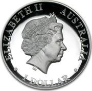 Australia 1 Dollar Australian Kookaburra 2013 KM# 1988 ELIZABETH II AUSTRALIA 1 DOLLAR IRB coin obverse