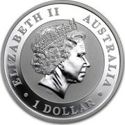 Australia 1 Dollar Australian Kookaburra 2013 Snake Privy KM# 1985 ELIZABETH II AUSTRALIA 1 DOLLAR IRB coin obverse