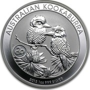 Australia 1 Dollar Australian Kookaburra 2013 Snake Privy KM# 1985 AUSTRALIAN KOOKABURRA 2013 1 OZ 999 SILVER P NM coin reverse