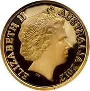 Australia 1 Dollar Australian Miniature Money 2012 Proof KM# 2038 ELIZABETH II AUSTRALIA 2012 IRB coin obverse
