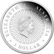Australia 1 Dollar Australian Opal Series - The Pygmy Possum 2013 KM# 2062 ELIZABETH II AUSTRALIA 1 DOLLAR IRB coin obverse