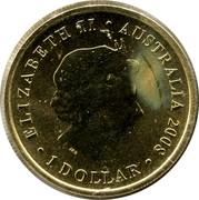 Australia 1 Dollar Australian sea lion 2008 KM# 1178 ELIZABETH II AUSTRALIA 2008 1 DOLLAR IRB coin obverse