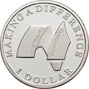 Australia 1 Dollar Australian Volunteers 2003 KM# 690a MAKING A DIFFERENCE 1 DOLLAR AUSTRALIA'S VOLUNTEERS coin reverse