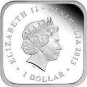 Australia 1 Dollar Autumn Season 2013 Proof KM# 1910 ELIZABETH II ∙ AUSTRALIA 2013 ∙ 1 DOLLAR coin obverse
