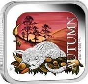 Australia 1 Dollar Autumn Season 2013 Proof KM# 1910 AUTUMN 1 OZ. 999 SILVER coin reverse