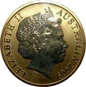 Australia 1 Dollar Bilby 2009 KM# 1655 ELIZABETH II AUSTRALIA 2009 IRB coin obverse