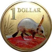 Australia 1 Dollar Bilby 2009 KM# 1655 1 DOLLAR coin reverse