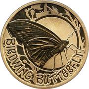 Australia 1 Dollar Birdwing Butterfly 2010 KM# 1442 BIRDWING BUTTERFLY P EM coin reverse