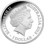 Australia 1 Dollar Black Caviar 2013 KM# 2018 coin obverse