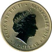 Australia 1 Dollar Blowfly 2010 KM# 1440 ELIZABETH II AUSTRALIA 2010 1 DOLLAR IRB coin obverse