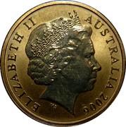 Australia 1 Dollar Bottlenose Dolphins 2006 KM# 806 ELIZABETH II AUSTRALIA 2006 IRB coin obverse