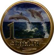 Australia 1 Dollar Bottlenose Dolphins 2006 KM# 806 1 DOLLAR coin reverse