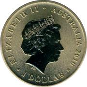 Australia 1 Dollar Bull Ant 2010 KM# 1441 ELIZABETH II AUSTRALIA 2010 1 DOLLAR IRB coin obverse
