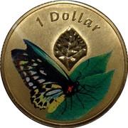 Australia 1 Dollar Cairns Birdwing 2011 KM# 1646 1 DOLLAR coin reverse