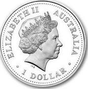 Australia 1 Dollar Centenary Australian PGA Gold Open 1905-2005 2005 KM# 831 ELIZABETH II AUSTRALIA 1 DOLLAR IRB coin obverse