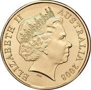 Australia 1 Dollar Centenary of Scouting 2008 KM# 1039 ELIZABETH II AUSTRALIA 2008 IRB coin obverse
