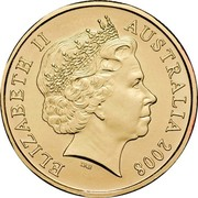 Australia 1 Dollar Centennial of Quarantine 2008 KM# 1064 ELIZABETH II AUSTRALIA 2008 IRB coin obverse
