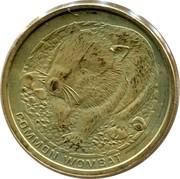 Australia 1 Dollar Common Wombat 2008 KM# 1168 COMMON WOMBAT P RV coin reverse