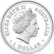 Australia 1 Dollar Davis Station 2007 P Proof KM# 1020 ELIZABETH II AUSTRALIA 1 DOLLAR coin obverse