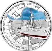 Australia 1 Dollar Davis Station 2007 P Proof KM# 1020 AUSTRALIAN ANTARCTIC TERRITORY - DAVIS STATION 1957 - 2007 coin reverse