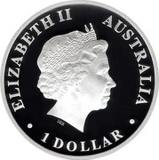 Australia 1 Dollar Discover Australia - Emu 2013 KM# 1938 ELIZABETH II AUSTRALIA 1 DOLLAR IRB coin obverse