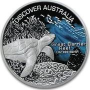 Australia 1 Dollar Discover Australia - Great Barrier Reef 2006 KM# 944 DISCOVER AUSTRALIA GREAT BARRIER REEF 1 OZ 999 SILVER 2008 coin reverse