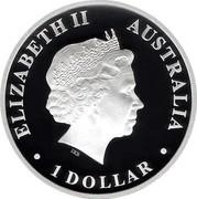 Australia 1 Dollar Discover Australia - Kookaburra 2013 KM# 1939 ELIZABETH II AUSTRALIA 1 DOLLAR IRB coin obverse