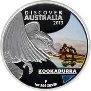 Australia 1 Dollar Discover Australia - Kookaburra 2013 KM# 1939 DISCOVER AUSTRALIA 2013 KOOKABURRA 1 OZ 999 SILVER P IJ coin reverse
