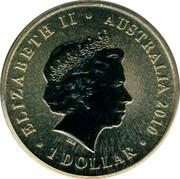 Australia 1 Dollar Dragonfly 2010 KM# 1444 ELIZABETH II AUSTRALIA 2010 1 DOLLAR IRB coin obverse