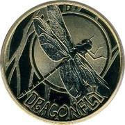 Australia 1 Dollar Dragonfly 2010 KM# 1444 DRAGONFLY P EM coin reverse
