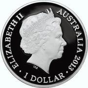 Australia 1 Dollar Eastern Grey Kangaroo 2013 KM# 1946 ELIZABETH II AUSTRALIA 2013 1 DOLLAR IRB coin obverse
